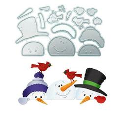 snowman, Steel, Cut, etching