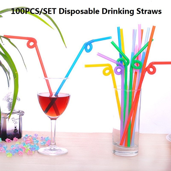 party, drinkingstraw, 100pcs, Mixed Color
