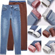 Plus Size, pants, Denim, winter Pants