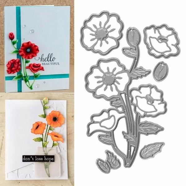 stencil, cuttingdie, flowercuttingdie, Metal