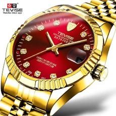 Steel, watchformen, Gifts For Men, gold