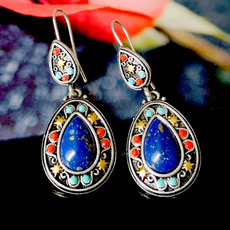 Sterling, Turquoise, Pendant, Gemstone Earrings