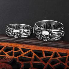 Steel, titanium steel, Jewelry, skull
