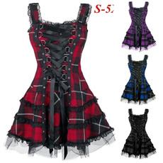 Goth, Lace, Dress, slim