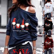 blouse, off shoulder top, Plus Size, christmasblouse