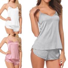 Vest, Shorts, womenpyjamasshort, girlvestpajama