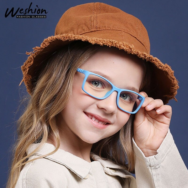 J20080505 Kids Eyeglasses Glasses Case Transparent Lens Juleya Anti Blue Light Glasses Frame Children Retro Eyewear for Girls Boys