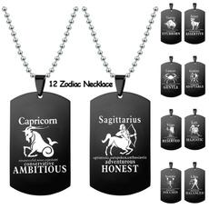 Steel, zodiacnecklace, Stainless Steel, Jewelry