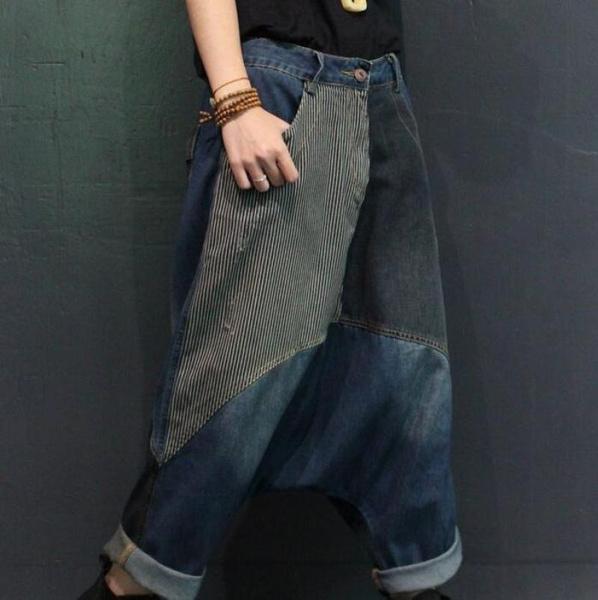 Hip Hop, patchworkdenimpant, trousers, retropatchworkpant