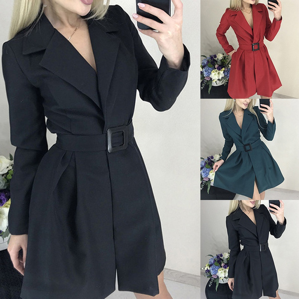 Plus Size, office dress, Long Sleeve, fashion dress