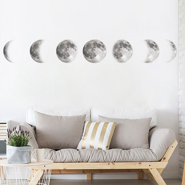 artdecal, art, moonphase, Wall Decal