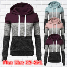 women pullover, Fleece, Plus Size, pullover hoodie