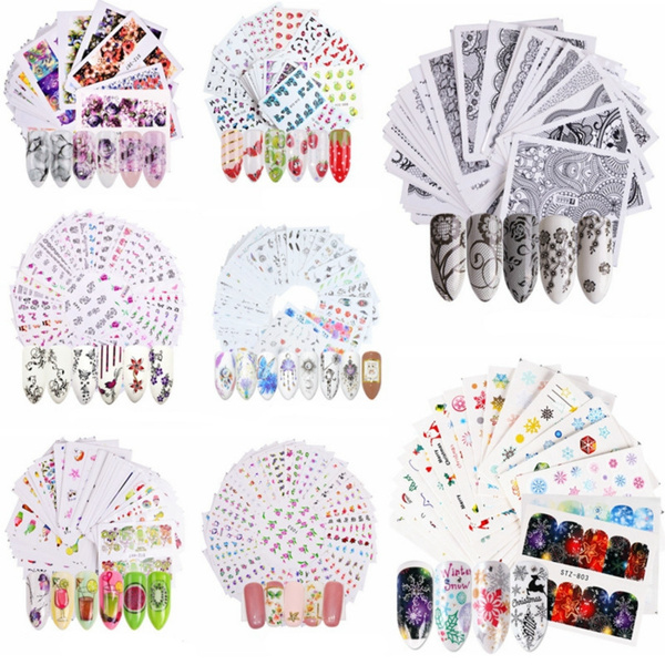 Stickers, Nails, nail stickers, Flowers