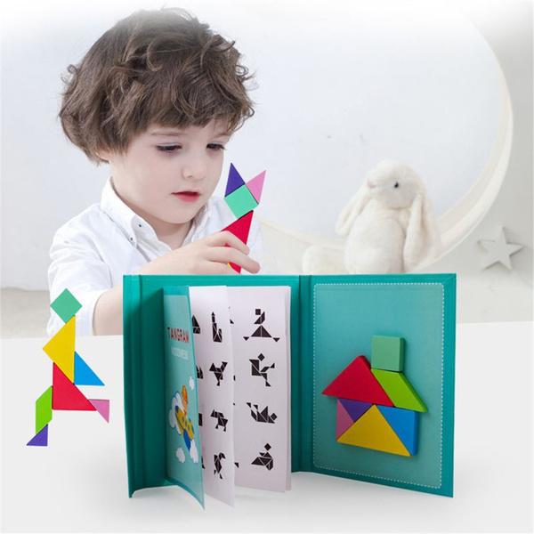 Book, tangram, magicbooksuit, jigsawpuzzlegame