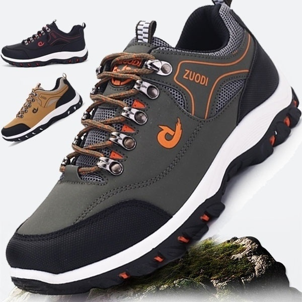 Men Hiking Shoes Waterproof Non-slip