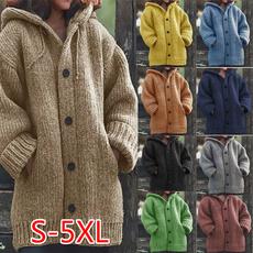Plus Size, Winter, Sleeve, sweater coat