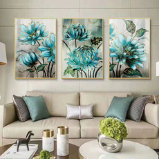 wallpictureforbedroom, Blues, Decor, Flowers