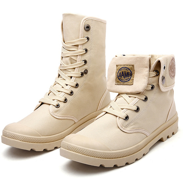 Men Large Size Martin Boots Breathable