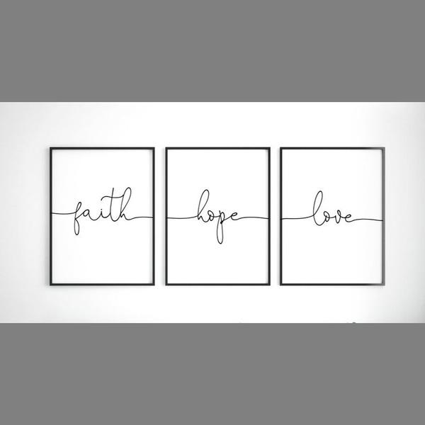 faith, Decor, Wall Art, nordicstyle