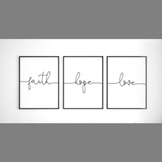 faith, Decor, Wall Art, nordicstyle