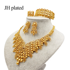 Jewelry, womenampgirlsampampampampladiesjewelryset, gold, Wedding