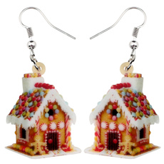 christmashouseearring, Colorful, Food, house