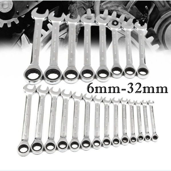 Surobayuusaku Flexible 6mm-32mm Double Head Spanner Skate Tool Gear Ring Wrench