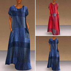dressesforwomen, long dress, short sleeve dress, Vestidos