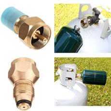 Brass, Adapter, propanerefilladapter, gasbottle