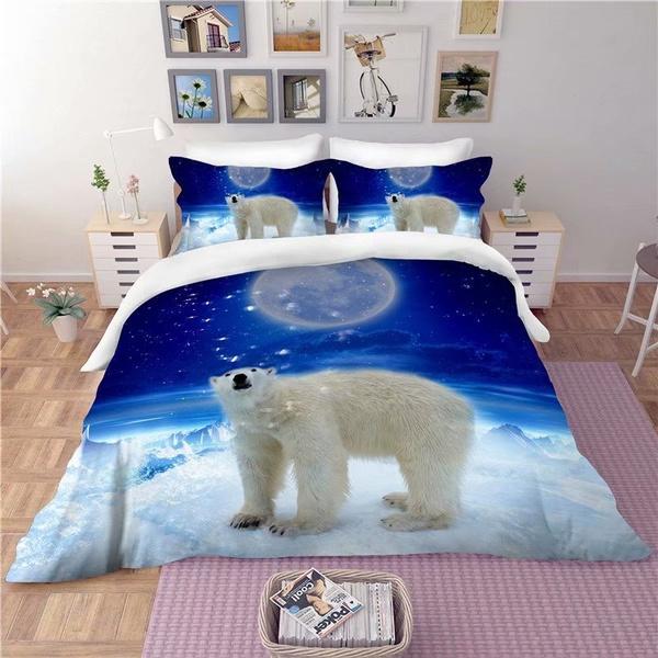King, polarbearbedset, animalbedset, 3dduvetcover