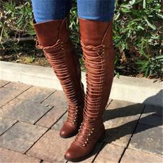 tallboot, combat boots, Encaje, Knee High Boots