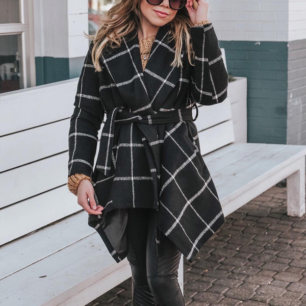 woolen, woolen coat, plaid, Fashion