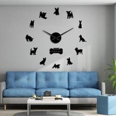 walldécorclock, chihuahua, wanduhr, Clock