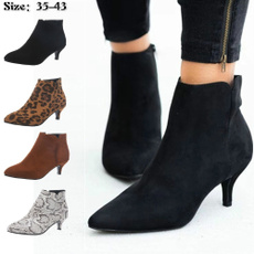 furboot, ankle boots, High Heel Shoe, Leather Boots