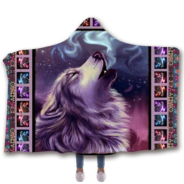 Fleece, hooded, Christmas, Throw Blanket
