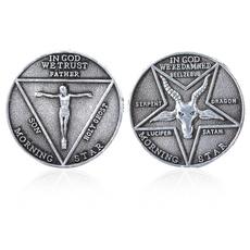 pentecostcommemorativecoin, Steel, devils, stainlesssteelcoin