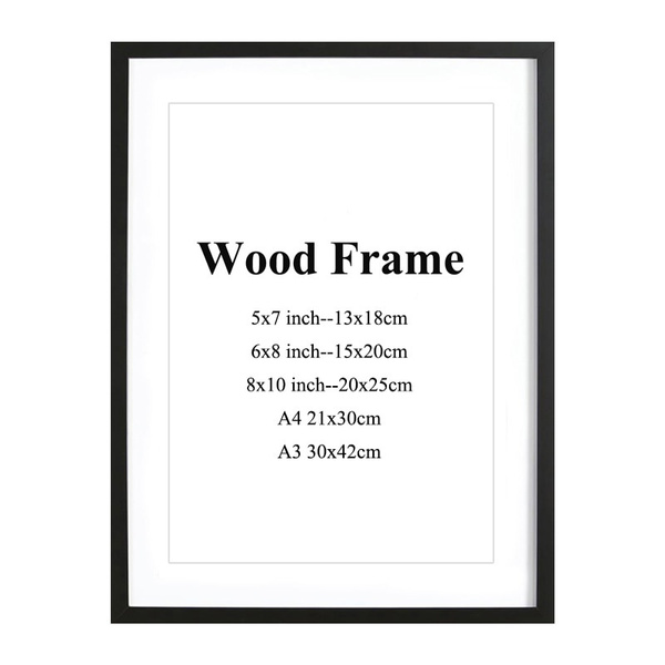 Pictures, Mats, Photo Frame, Wooden
