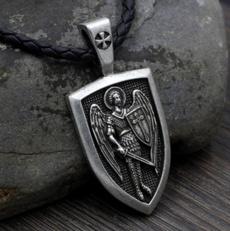 Necklace, shieldnecklace, angelnecklace, necklaces for men
