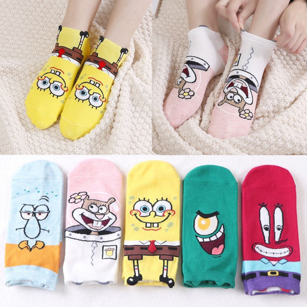 cartoonsock, Star, Sponge Bob, Breathable