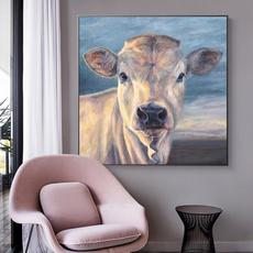 cow, Modern, art, Home Decor