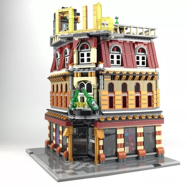 city, Toy, structure, house
