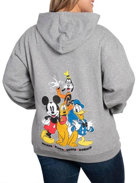 Mickey Mouse, Gray, Fashion, Zip