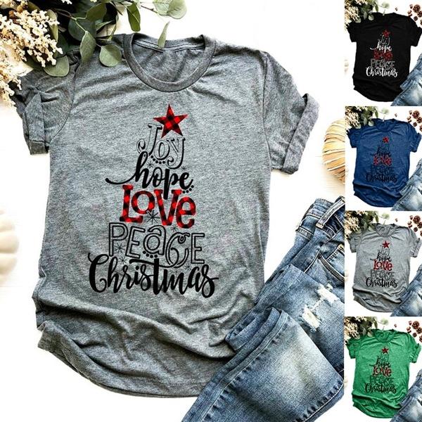 Fashion, plaid, Love, Cotton T Shirt