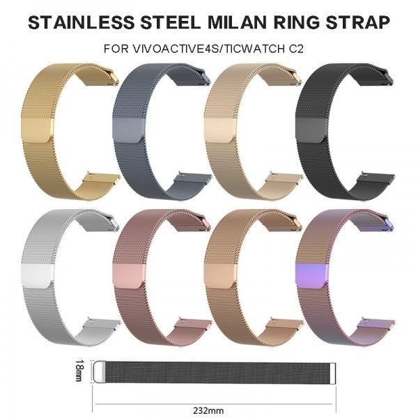 Steel, garminvivoactive3, Armband, Stainless Steel