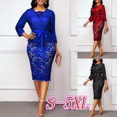 Blues, 34sleevedres, Dentelle, solidcolordres