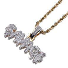 Brass, Party Necklace, Men  Necklace, punk necklace