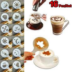 coffeestencilset, Coffee, cappuccino, art
