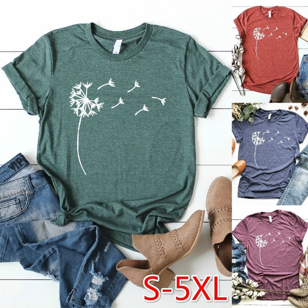 bohemia, Plus Size, summer t-shirts, short sleeves