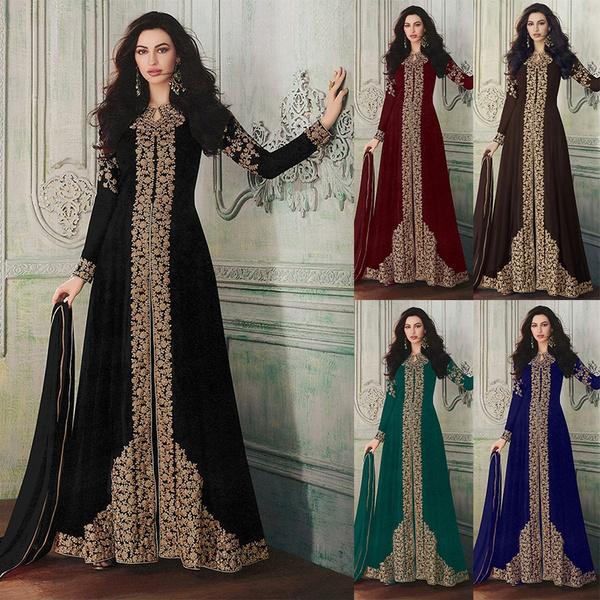 indiadre, musilimdre, Plus Size, long sleeve dress