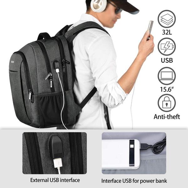 travel backpack, Shoulder Bags, usb, business bag